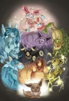 Eeveelutions by starfishey