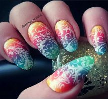 Rainbow ombre  by soimmature