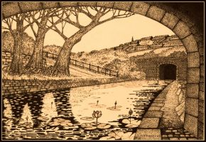 Pennine waterway by PENANDINKDRAWINGS