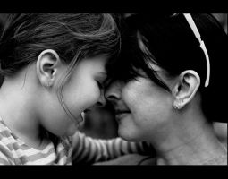 mother and daughter by portisha