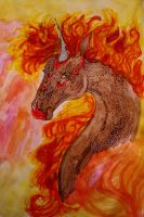 Fire Element Horse by chaosqueen122