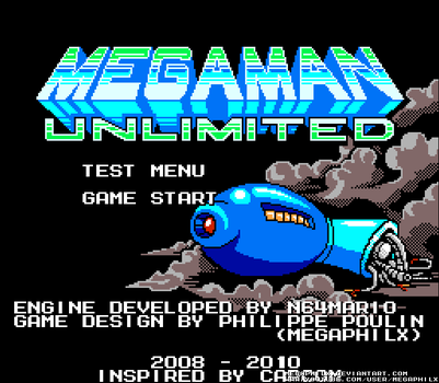 MegaMan Unlimited Title Screen by MegaPhilX