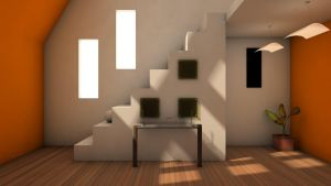 Interior Render- Stairs by capsat