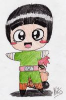 Rock Lee and Gaara chibis by NikoH