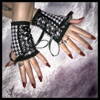 Hollow Hills Fingerless Gloves by ZenAndCoffee