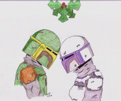 Mando Mistletoe by mighty-mando