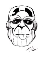 Thanos by Terry Huddlston by IamSpeck