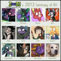 2013 Art Summary by ZombiDJ