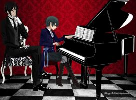 His Butler - Piano Lesson by LibertyBella