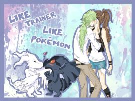 Like trainer, like pokemon. by Kiaraz