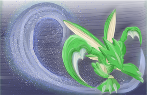 Scyther Painting by AllKindsOfYES