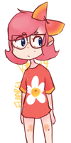 pink daisies by qioqos