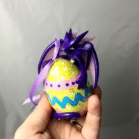 SALE Easter egg dragon by LittleCLUUs