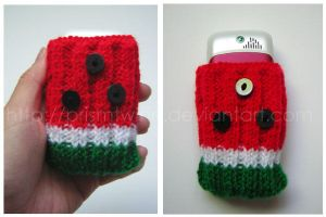 Watermelon phone holder by prismtwine