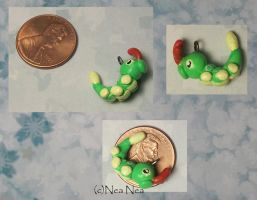 Caterpie 2 charm by ElectricDinoSaur