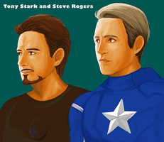 Tony  and Steve by makimac