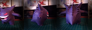Pokemon Papercraft ~ Gengar  ~ by SuperRetroBro