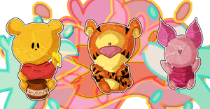 Winnie Pooh Stickers by Espeon4ever