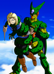 Cell Squeeze Android 18 From Dragon Ball Z By Tail by elmonais