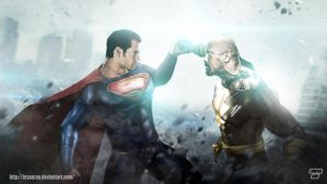 Superman Vs Black Adam by Bryanzap