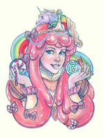 Femenagerie: Princess Bubblegum (Candy III) by DoodleLust