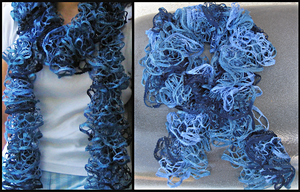 Ruffled Sky Blue Scarf by Hope555