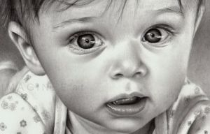 Baby portrait closeup by imaginee