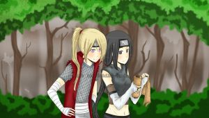 In the woods... by Uchiha-Umeko