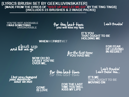 Song Lyrics Brush Set 04 by geekluvinskater