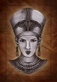 Queen Nefertiti by shepush