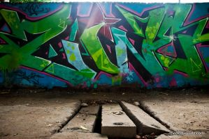 Graffiti in Delhi - Shivalik Road 3 by Thedelhiguide