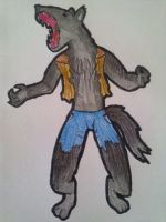 Lycaeon's wolf form by Ask-Edwin