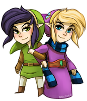 Link and Ravio by Chocolace