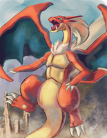 King Charizard by iamHikari-kun