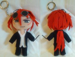 Mini Plush ver.2 - Reno Final Fantasy Keychain by mihijime