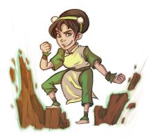 Toph Sticker by lesliesketch