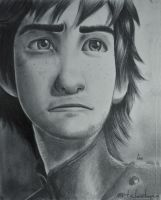 Pencil drawing Hiccup - How to train your dragon 2 by LinaKaye