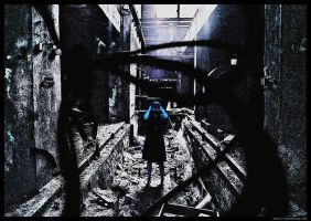 blue girl scared of the dark by maladjust