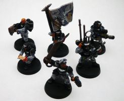 Imperial Guard Command Squad by OrneryAmerican