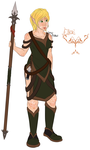 Elleri and her staff by DyingWhispers