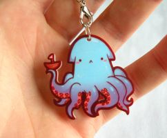 mythical octopus kraken charm by michellescribbles