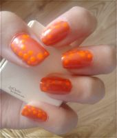 31 Week Nail art challenge: Week 2 Orange Nails by LittleAndzia