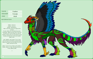 Feather sis of Pete Sparrow dragon oc by Natalia-Clark