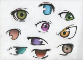 anime eyes by VillainAurora