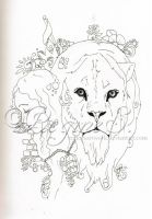 From my sketchbook 4 - Liongirl by ReginesArtwork
