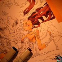 Commission for Dream-Angel-Artista wip01 by Lady-Valiant