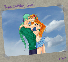 Happy Birthday Zoro 11-11-2010 by LaFoxtriel