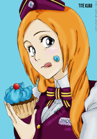 Orihime Eating A Cupcake by IdenCat