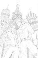 Black Widow and Comrade Hero Pencils by SorahShibao