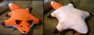 Fox Plushie Pillow by dragontrap